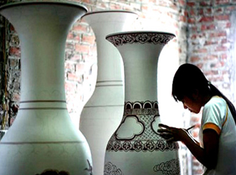 Bat Trang Ceramic Village and Van Phuc Silk Village